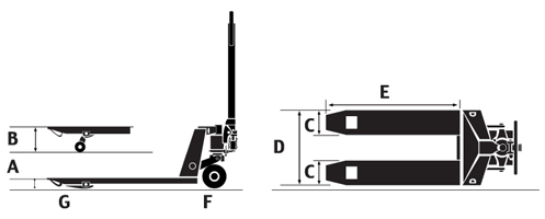 Cấu tạo của xe nâng hàng bằng tay